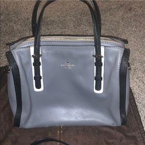 Kate spade purse grey with black trim